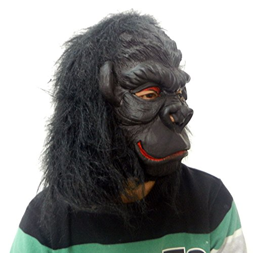 Máscaras de gorila negro de Halloween máscara de carnaval de Navidad de látex verde máscaras de animales: Amazon.es: Juguetes y juegos