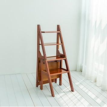 QFFL tideng Taburetes de escalera para el hogar Taburete de escalera plegable multifuncional Taburete de escalera para interiores Taburete de escalera de madera decorativa (Color : C): Amazon.es: Bricolaje y herramientas