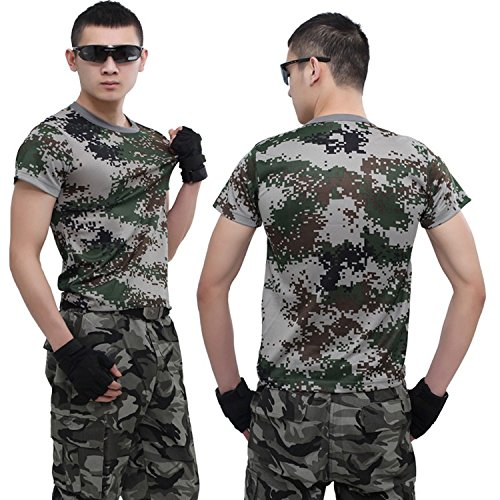 T-shirt veste Camo tactique militaire combat ˆ manches courtes Adulte Enfant