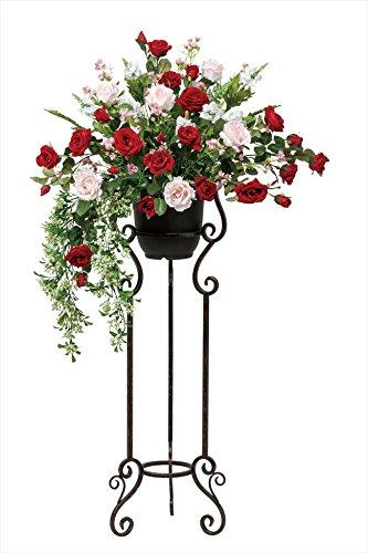 光触媒 光の楽園 アートフラワー 造花 スカーレットローズスタンド B079Q957G6