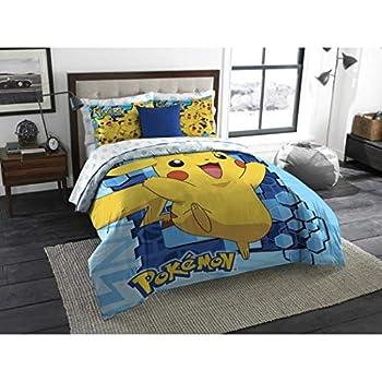 Amazon Com 3 Piece Kids Blue Yellow Pokemon Theme