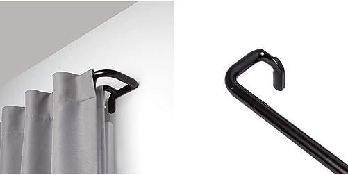 Umbra Twilight Double Curtain Rod Set Wrap Around Design