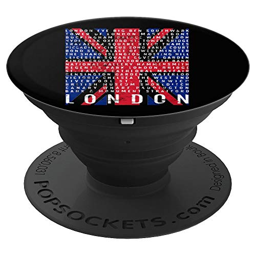 - London UK Town England: Union Jack London Areas - PopSockets Grip and Stand for Phones and Tablets