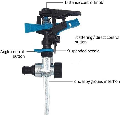Sourcingmap 360 Degree Rotate Lawn Water Sprayer Sprinkler Head Black//Red