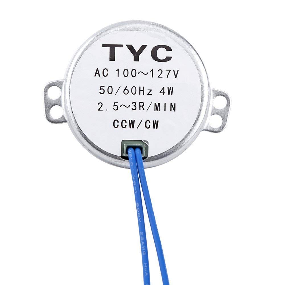 School Project 4pcs - 50//60Hz AC 100~127V 4W 2.5-3RPM//MIN CCW//CW For Hand-Made Synchronous Synchron Motor,Turntable motorwithwith 7mm//0.275in Flexible Coupling Connector,110V motor Model 2.5-RPM