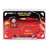 Goss KA-37H Air-Acetylene Soldering Kit with B Acet Regulator and BA-4 Tip