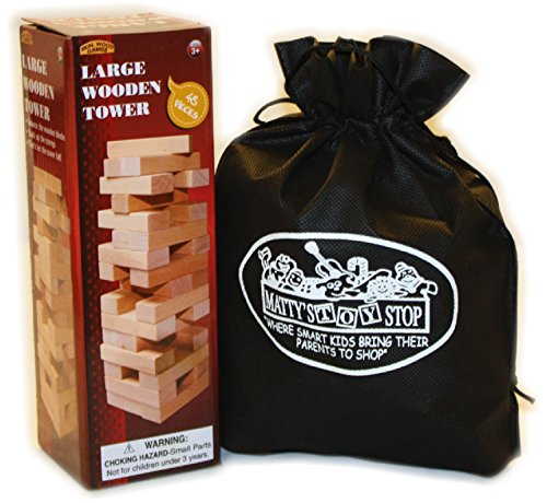 Large-Wooden-Tower-Deluxe-Stacking-Game-with-Exclusive-Mattys-Toy-Stop-Storage-Bag