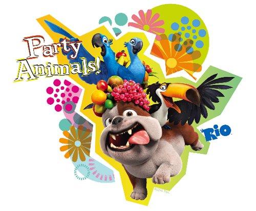 Rio Edible Cupcake Toppers (Rio Birthday Party)