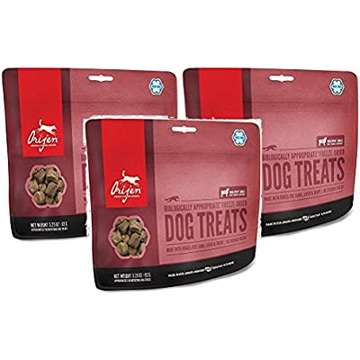 Orijen 3 Pack of Freeze Dried Lamb Dog Treats, 3.25 Ounces Per Pack
