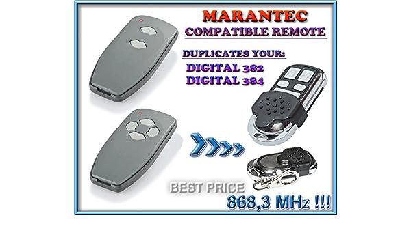 Digital 384-868 4 canales, 868,3 MHz, c/ódigo fijo Marantec Digital 382-868 Mando a distancia