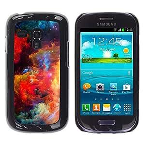 Paccase / SLIM PC / Aliminium Casa Carcasa Funda Case Cover para - Colors Universe Bright Galaxy Dust Cosmos - Samsung Galaxy S3 MINI NOT REGULAR! I8190 I8190N