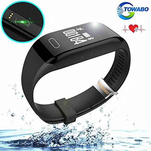 Towabo Fitness Tracker Wristband with Heart Rate monitor E3S Activity