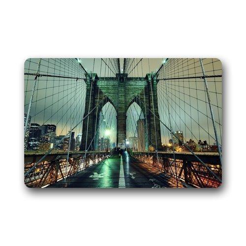 (ningmington Personalize Decor Carpet? New York City Manhattan Brooklyn Bridge Top Fabric & Rubber Indoor Outdoor Area RugEntryway higi\Width: 15.7inch23.6inch,40cm60cm)