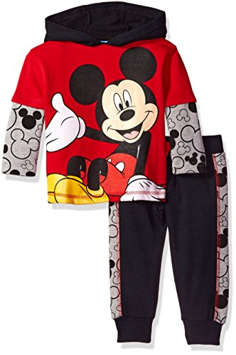 Disney Boys 2-Piece Mickey Fleece Set with Piecing