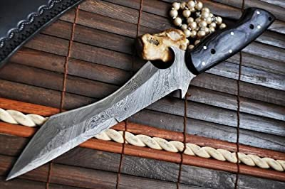 Handmade Damascus Hunting Knife Full Tang - Work of Art