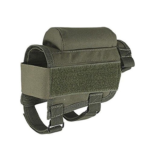 Aolvo Buttstock Cheek Riser, Portable Adjustable Shotgun Buttstock Pad, Sniper Rifle Shotgun Buttstock Shell Holder Ambidextrous Use for Both Righty and Lefty Shooters Hunters Snipers Shotgun Lovers
