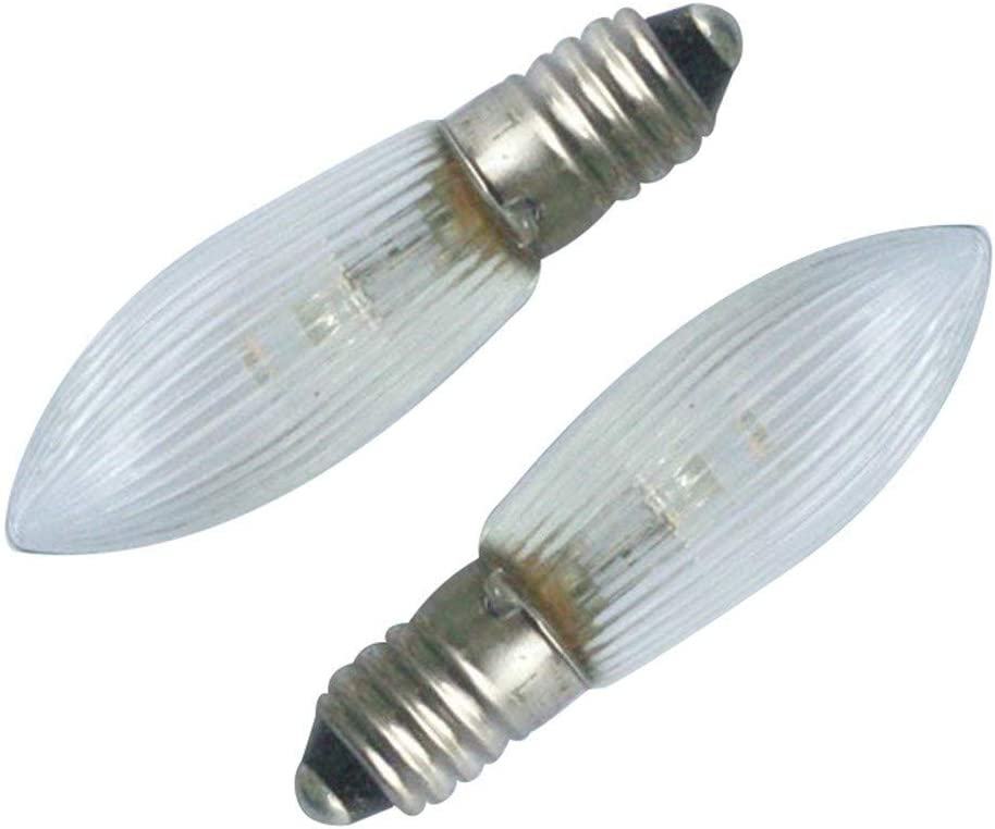Weisfe78 E10 LED Replacement Candelabra Light Bulbs Double wick 0.1-0.2 W Candelabra Base Chandelier Bulb Warm White 3300-3500K Non-dimmable Pack of 8//12 Input 10-55 V AC