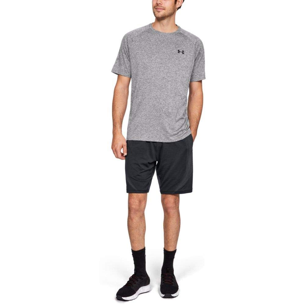 Under Armour Men's Tech 2.0 Short Sleeve T-Shirt, Charcoal Light Heath (019)/Black, 3X-Large by Under Armour (Image #3)