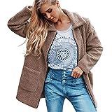 Clearance Womens Coat Cinsanong Ladies Warm Parka Winter Zipper Jacket Artificial Wool Outerwear Clothes