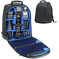 DSLR Camera Backpack - USA Gear SLR Camera Backpack w/ Laptop Compartment , Front Loading Access , Rain Cover , Large Lens Storage & Weather Resistant Bottom - For Canon, Nikon, Sony, Pentax & More