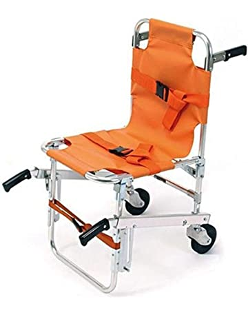Silla para escaleras EMS - Ambulance Firefighter Evacuation Medical Lift Silla para sillas con hebillas de