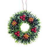BSGSH Christmas Wreath with Pine Cones, Flowers and Berries for Front Door, Wall, Mantelpiece, Window Decoration, Home Décor (Multicolor D)