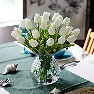 31PCS/LOT Pu Mini Tulip Flower Real Touch Wedding Flower Bouquet Artificial Silk Flowers For Home Party Decoration 84