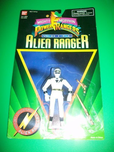 Power Rangers 1995 White Alien Ranger Action Figure MOSC MOC NEW