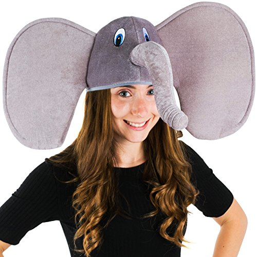 Funny Party Hats Elephant Hat - Elephant Trunk Hat - Elephant Costume - Animal Costume Hats]()
