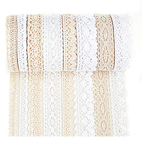IDONGCAI Cotton Lace Trim Lace Ribbon
