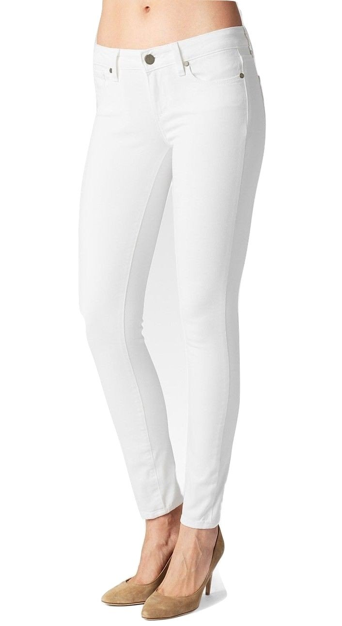 Paige Denim Verdugo Ankle Skinny Jeans Pants Trousers, Optic White, 31 by PAIGE