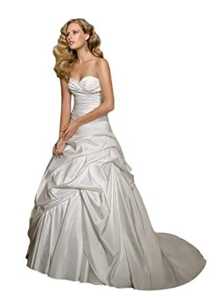 Cheap Wedding Dress Mori Lee Cheap Bridal Gown 4163 Satin - Pearl, Size 12