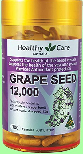 Healthy Care Grape Seed Extract 12000mg 300 Capsules by Healthy Care