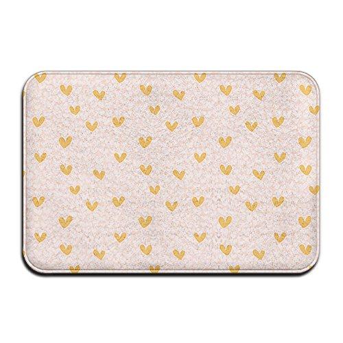 DoorMat Pink Gold Hearts Shop Preview Outdoor Door Mat With Non Slip Backing Bathroom Mats Bathroom Kitchen Decor Rug Mat 60x40cm -