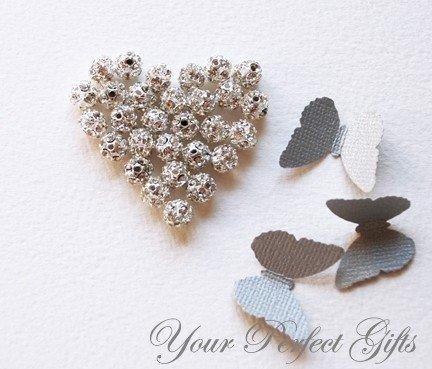 20 pcs Swarovski Rhinestone Crystal Silver Plated Bead Spacer Ball 6mm DIY Jewelry Craft Supplies AC007