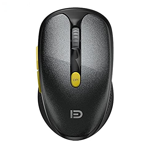 GranVela V5c 2.4GHz Wireless Mouse Silent Click Compact Soundless Optical Mice with Nano USB Receiver DPI 2400 for PC, Mac and Laptop (Wireless Mouse Zebra)