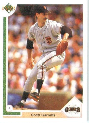 1991 Mlb Rookies - 1991 Upper Deck # 443 Scott Garrelts San Francisco Giants - MLB Baseball Trading Card
