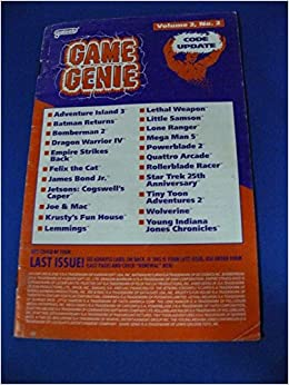 <b>Game Genie Code</b> Update Book for NES - Volume <b>2</b> Number <b>2</b> (Suplement ...