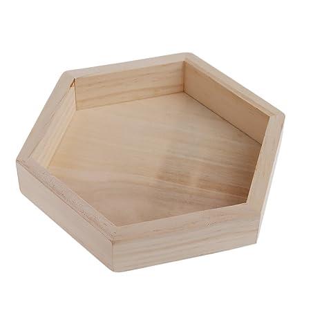 Godcraft - Joyero de Madera con Bandeja para Joyas, Caja de Almacenamiento, Cajas hexagonales