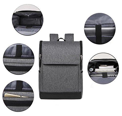 YANX Bolso del cuaderno de los hombres de manera de Bolso de computadora mochila del paño de Oxford (44 * 29 * 16cm) , pink gray