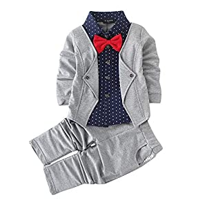 Hopscotch Boys Cotton Blazer Style Shirt and Pant Set