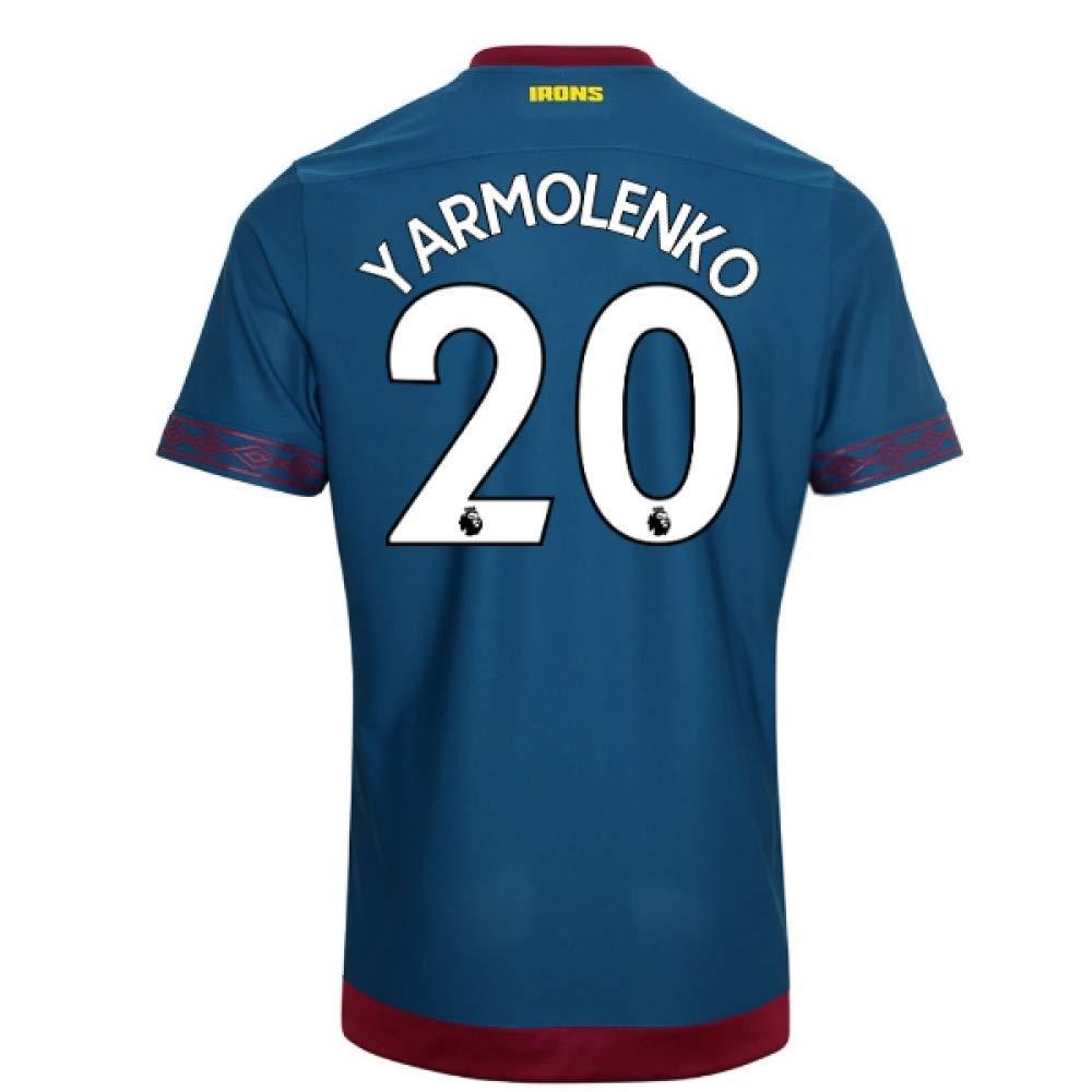 2018-2019 West Ham Away Football Soccer T-Shirt Trikot (Andriy Yarmolenko 20)