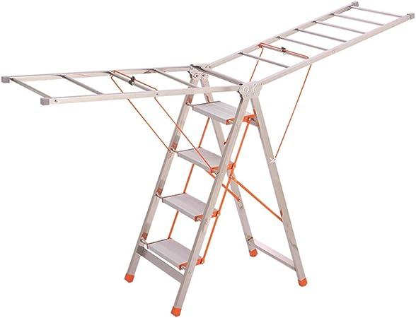 C-J-Xin Escalera de Metal de Doble Uso, Escalera Plegable de Acero Inoxidable Balcón Sala de Estar Escalera de Cinco escalones Escalera Exterior de Cuatro Pasos Escalera de casa: Amazon.es: Hogar
