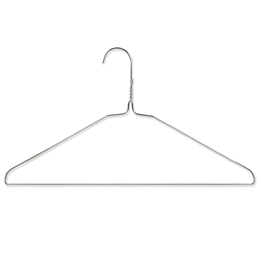 10 opinioni per Hangerworld, Grucce per abiti, in metallo zincato, per uso domestico, 50 pz.,