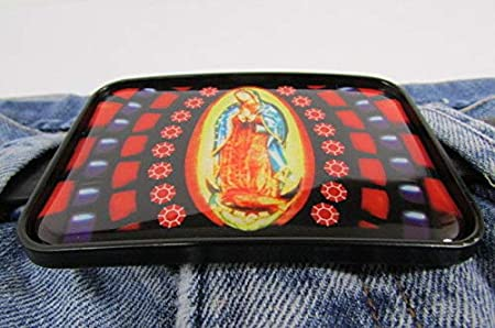 MARIA BLACK METAL WESTERN FASHION BUCKLE VIRGIN MARIE LA VIRGEN DE GUADALUPEVIRG