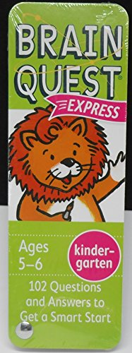 Brain Quest Express Cards Booklet - Kindergarten - Ages 5-6, 102 Questions -