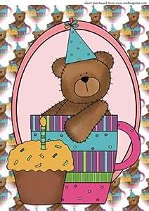 A4 aprox en oso del cumpleaños onestopdiy tarta 3 por Sharon Poore