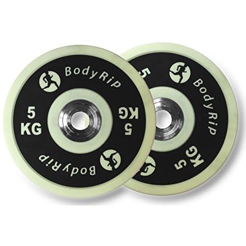 BodyRip 5,1cm Olympiques Elite pare-chocs Assiettes PU Poids d'haltérophilie Gym Compétition
