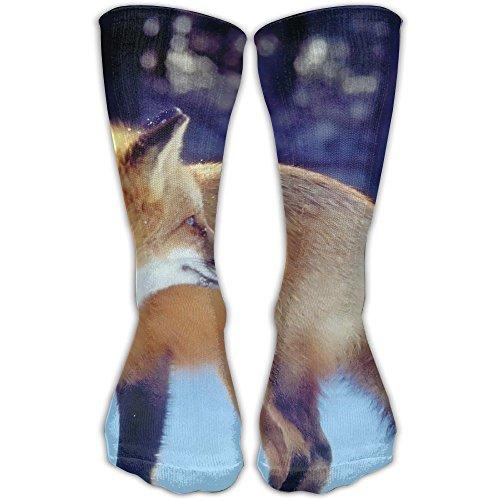 YUANSHAN Socks Snow Day Fox Women & Men Socks Soccer Sock Sport Tube Stockings Length 11.8Inch]()