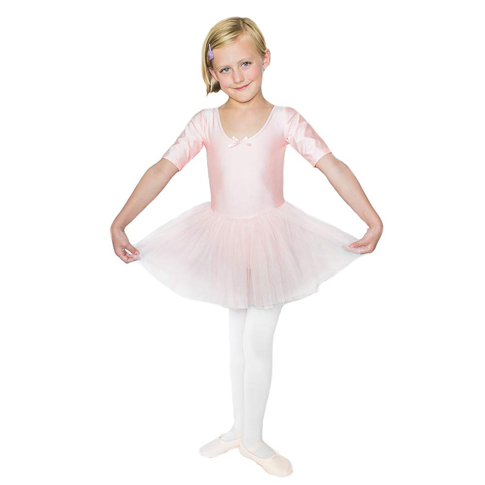 STELLE Toddler/Girls Cute Tutu Dress Leotard for Dance, Gymnastics and Ballet (L, BP Nylon)